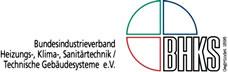 Zertifizierung Logo Bundesindustrieverband Heizung- / Klima- / Sanitärtechnik & Technische Gebäudesanierung e.V. BHKS von Nitsch